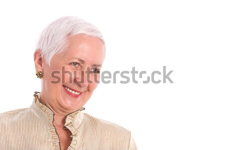 Cheerful Senior Woman Laughing Stock photo © rognar