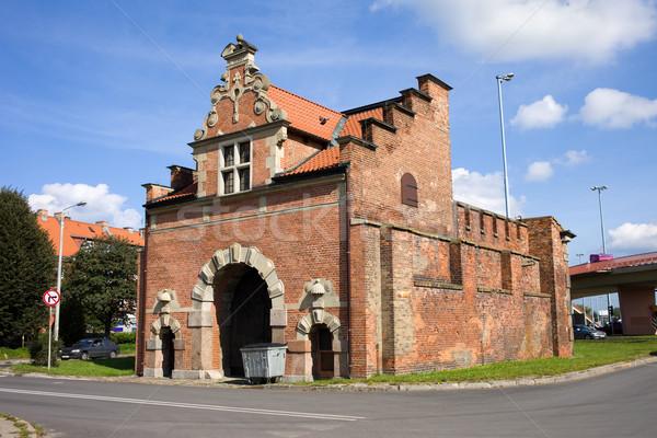 Cancello danzica vecchio città muri Polonia Foto d'archivio © rognar
