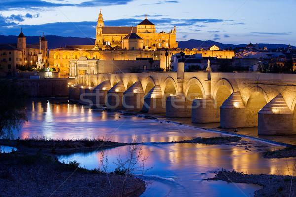 Mezquita and Roman Bridge in Cordoba Stock photo © rognar