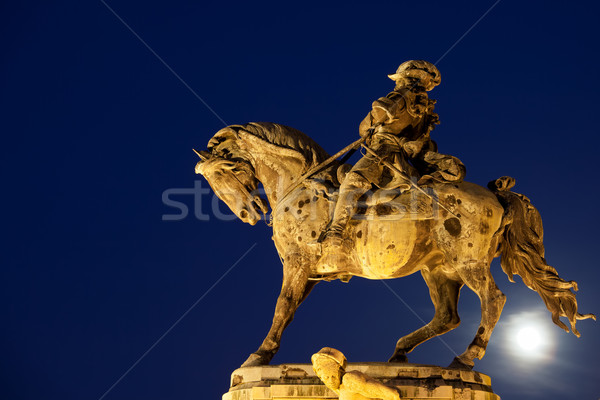 Prince Eugene of Savoy Statue at Night Stock photo © rognar
