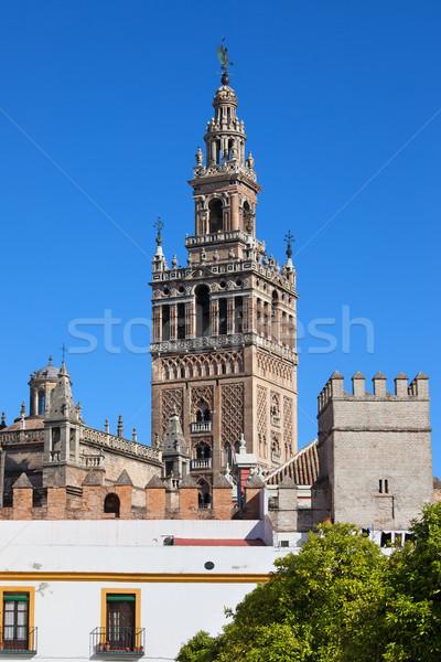Giralda Tower in Seville Stock photo © rognar