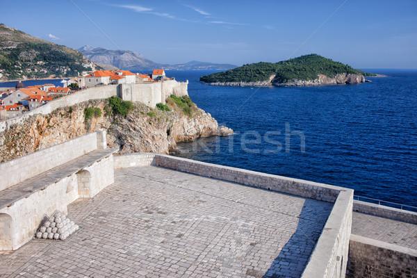 Dubrovnik, Fort Lovrijenac and Lokrum Island Stock photo © rognar