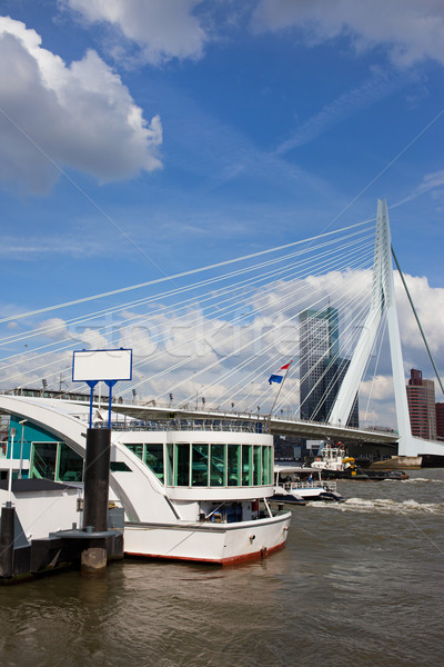 Erasmus Bridge in Rotterdam City Downtown Stock photo © rognar