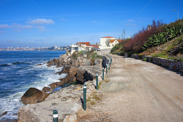 Road Along the Atlantic Ocean in Estoril Stock photo © rognar