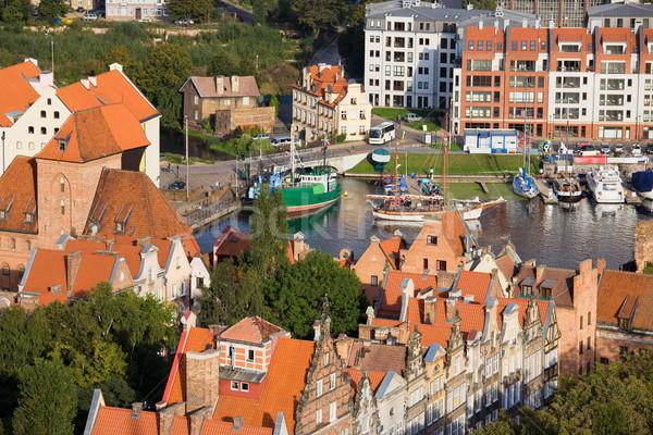 Città danzica Polonia storico architettura moderna Foto d'archivio © rognar