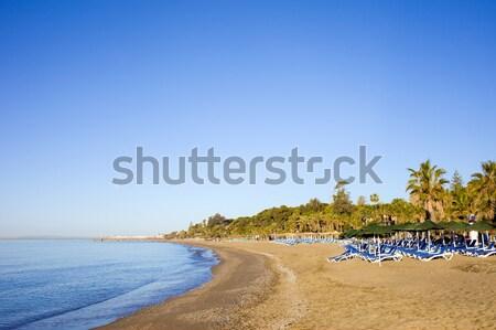 Tengerpart Spanyolország üres üdülőhely Andalúzia víz Stock fotó © rognar