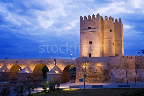 Stock photo: Calahorra Tower and Roman Bridge in Cordoba