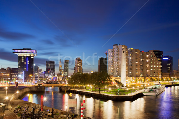 City of Rotterdam at Night Stock photo © rognar