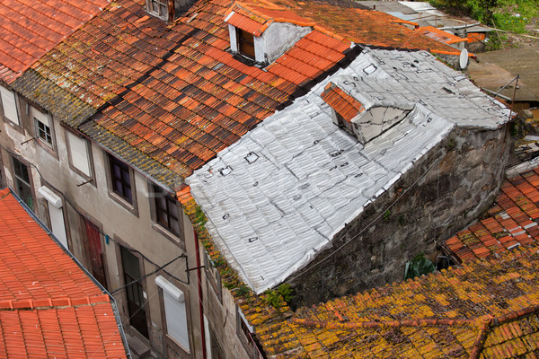 Tiled Roofs One With Foil Insulation Stock photo © rognar