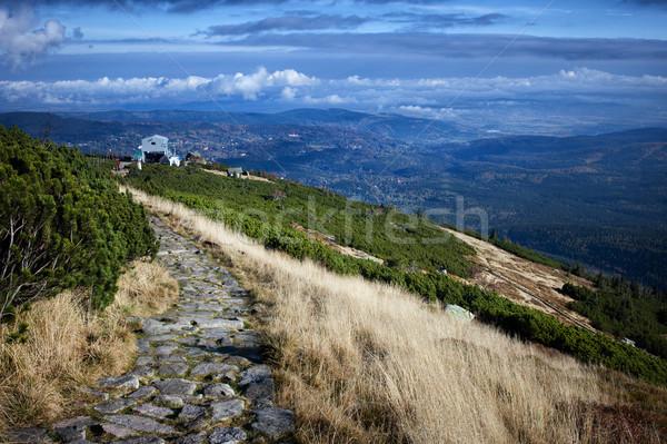 Bergen landschap gras reizen park Europa Stockfoto © rognar