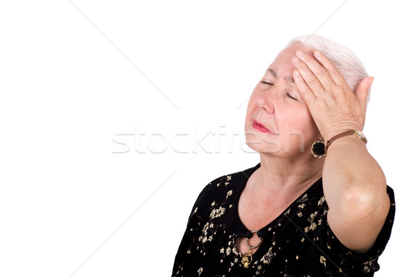 Old Lady with Migraine Headache Stock photo © rognar