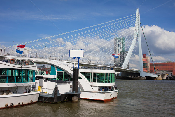 Erasmus Bridge in Rotterdam Downtown Stock photo © rognar