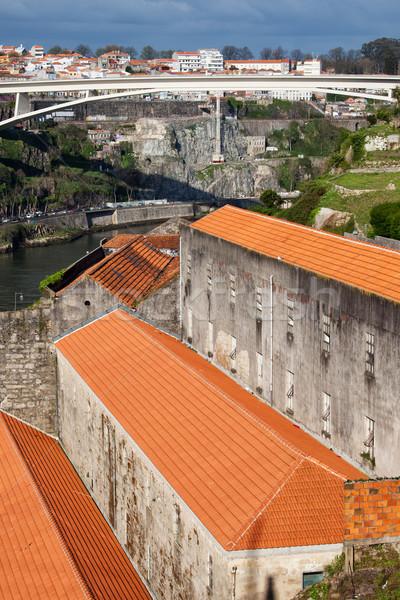 şarap nehir şehir Bina köprü binalar Stok fotoğraf © rognar
