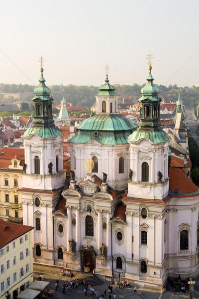 Saint Nicholas Church in Prague Stock photo © rognar