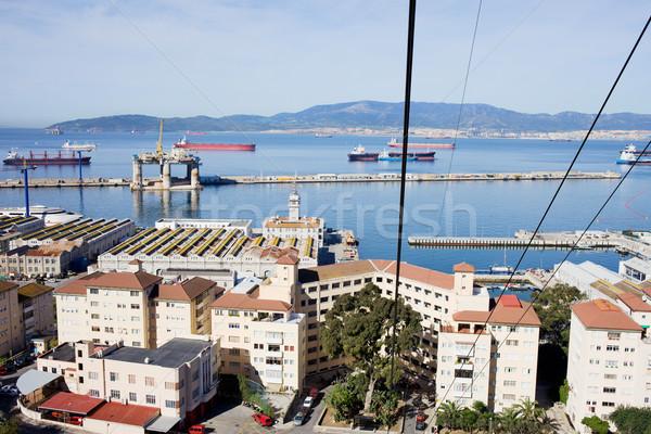 Gibraltar miasta widoku kabel samochodu miejskich Zdjęcia stock © rognar