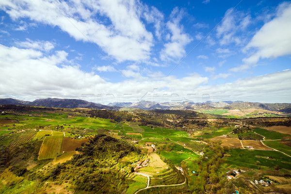 Andalúzia tájkép festői déli Spanyolország mező Stock fotó © rognar