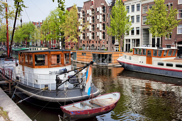 Brouwersgracht Canal in Amsterdam Stock photo © rognar