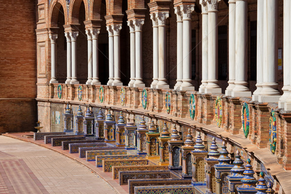 Plaza de Espana Colonnade and Benches in Seville Stock photo © rognar