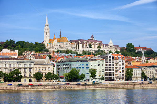 Along Danube River in Budapest Stock photo © rognar