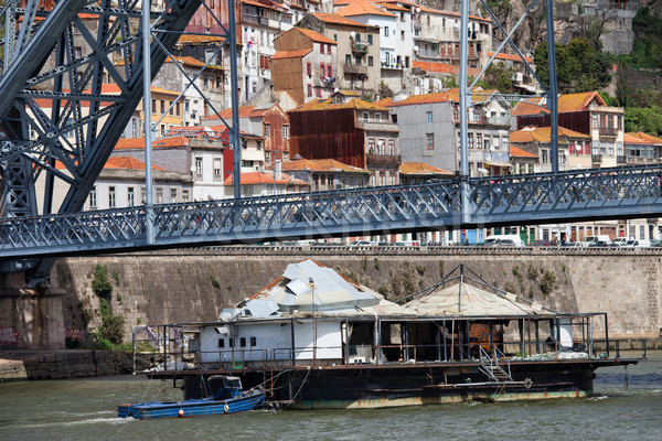 Old Barge on Douro River in Porto Stock photo © rognar