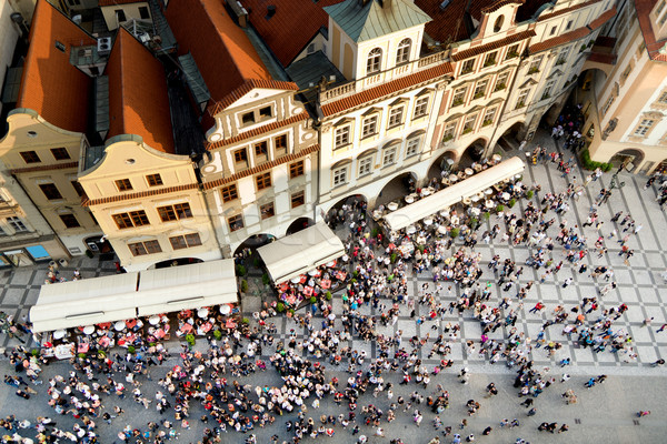 Prague Old Town Square Stock photo © rognar