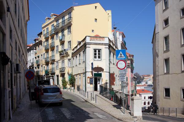 住宅 地区 リスボン 絵のように美しい ポルトガル 通り ストックフォト © rognar
