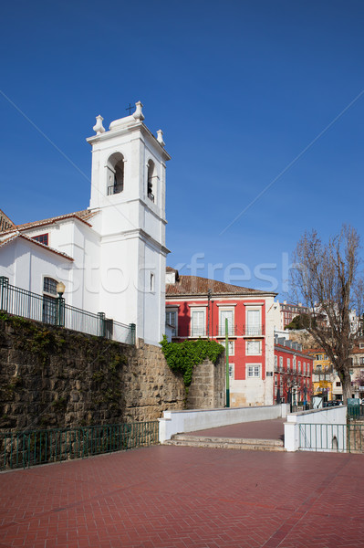 Lissabon Portugal gebouw stad kerk stedelijke Stockfoto © rognar