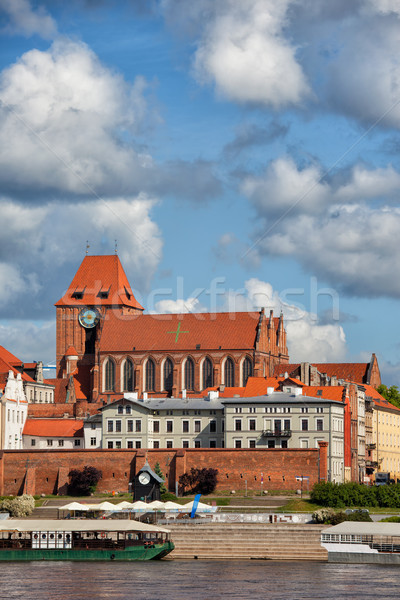 City of Torun Old Town Skyline in Poland Stock photo © rognar