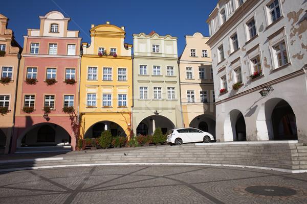 Old Town Houses of Jelenia Gora City in Poland Stock photo © rognar