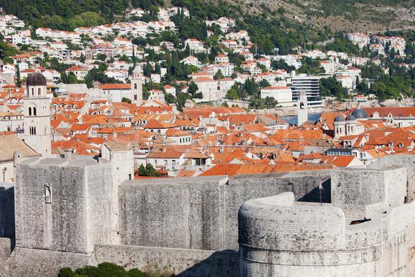 старые город Дубровник Хорватия юг дома Сток-фото © rognar