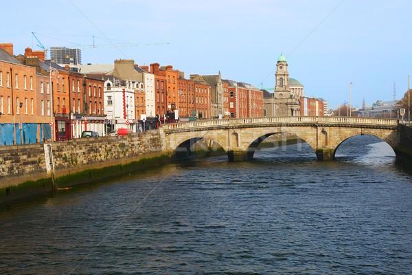 Város Dublin királynő híd Írország víz Stock fotó © rognar