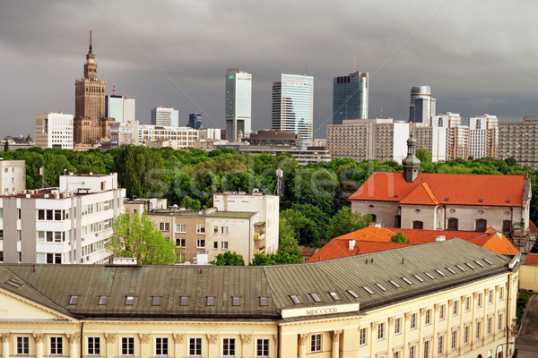 City of Warsaw Skyline Stock photo © rognar