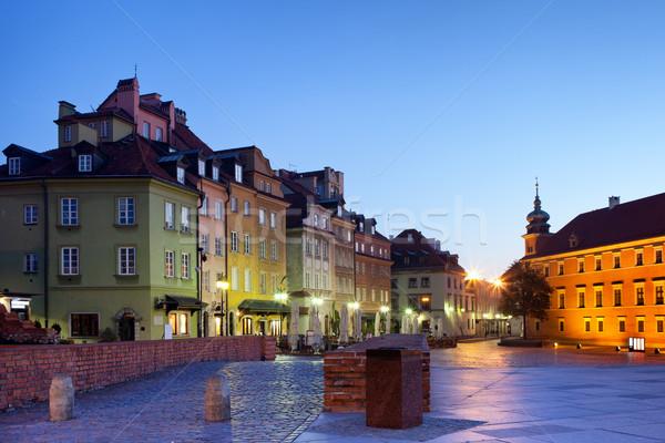 утра старый город Варшава Польша город путешествия Сток-фото © rognar