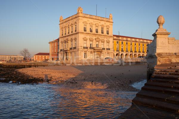 日の出 リスボン 小 ビーチ 川 市 ストックフォト © rognar