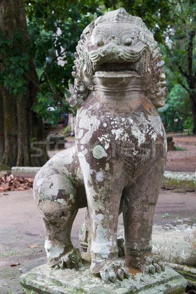 Guardião leão estátua antigo pedra criatura Foto stock © rognar