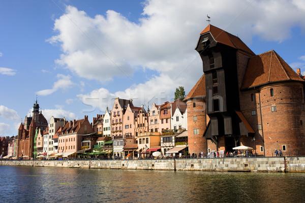 Danzica città vecchia fiume Polonia Foto d'archivio © rognar