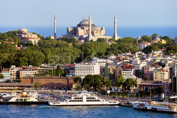 Város Isztambul festői díszlet Törökország ház Stock fotó © rognar