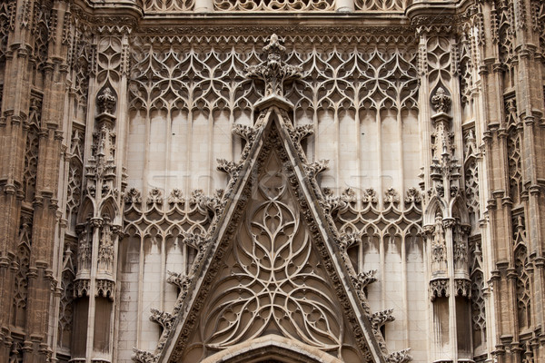 Seville Cathedral Ornamentation Stock photo © rognar