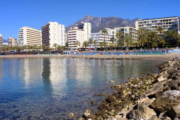 Város Spanyolország népszerű üdülőhely Andalúzia régió Stock fotó © rognar