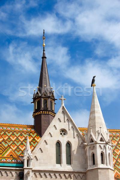 Matthias Church Architectural Details in Budapest Stock photo © rognar