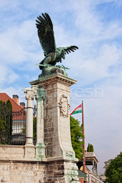 Mythical Turul Bird Statue in Budapest Stock photo © rognar