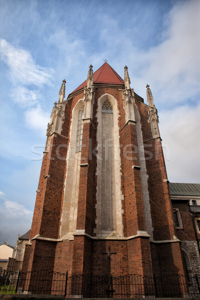 Templom Krakkó Lengyelország gótikus stílus Európa Stock fotó © rognar