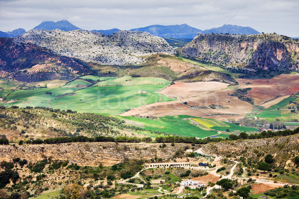 Andalúzia vidék festői tájkép déli Spanyolország Stock fotó © rognar