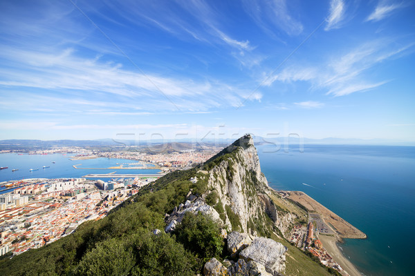 Gibraltar Rock Bay and Town Stock photo © rognar