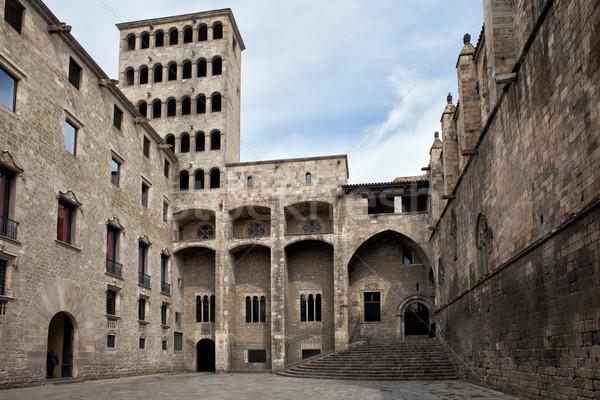 パラオ バルセロナ 建物 アーキテクチャ ゴシック 塔 ストックフォト © rognar