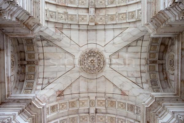Ceiling of the Rua Augusta Arch in Lisbon Stock photo © rognar