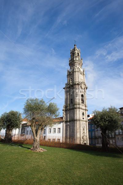 Clerigos Church Tower in Porto Stock photo © rognar