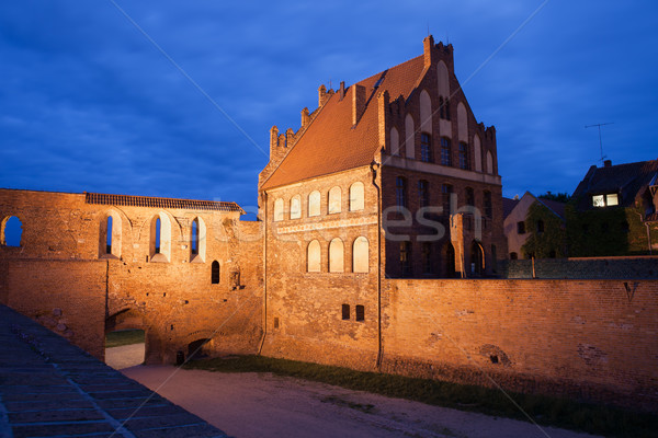Citizen Court and City Wall by Night in Torun Stock photo © rognar