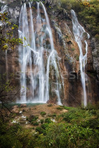 滝 公園 クロアチア 水 自然 岩 ストックフォト © rognar