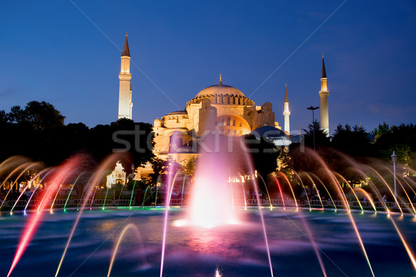 Hagia Sophia at Night Stock photo © rognar